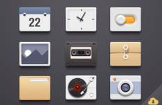 9 Small Plastic Icons PSD