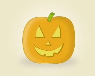 Cute Halloween Pumpkin Icon PSD
