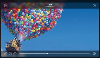 Stylish Transparent Video Player Widget PSD