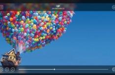 Stylish Transparent Video Player Widget PSD