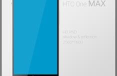 HTC One Max PSD Mockup