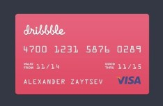 Visa Credit Card Template PSD