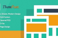 ThemFast - Modern Flat One Page Website Template PSD