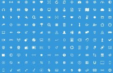 150+ Glyph Icons PSD