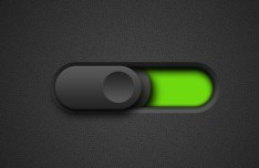 Black and Green Toggle Button PSD