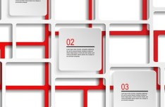 Red And White Number Labels For Infographic Design Vector 02