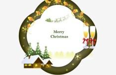 Fresh Merry Christmas Frame Vector 04
