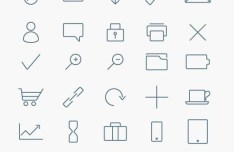 35 Stylized Minimalist Icons Vector