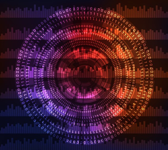 Circular Abstract Matrix Background Vector