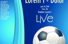 Soccer Advertising Poster Design Template Vector 03