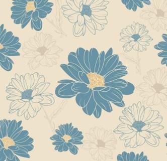 Vintage Chrysanthemum Pattern Background Vector