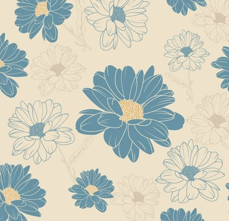 Vintage Chrysanthemum Pattern Background Vector