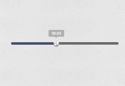 iTunes Style Music Player Progress Bar PSD