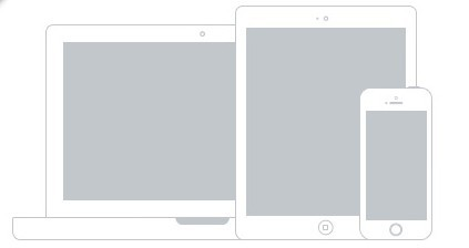 Apple Devices Wireframe Mockup PSD