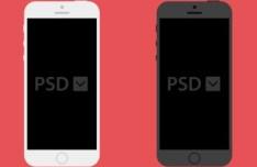 Minimalist Flat iPhone 5S Templates PSD