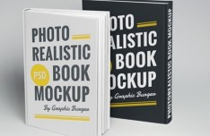 Realistic Hardcover Book Mockup PSD