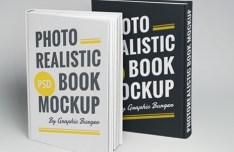 Realistic Hardcover Book Mockup PSD