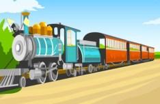 Retro Train Vector Illustration