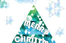 Abstract Blue Christmas Tree Design Vector