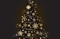 Creative Gold Christmas Tree Design Vector 01