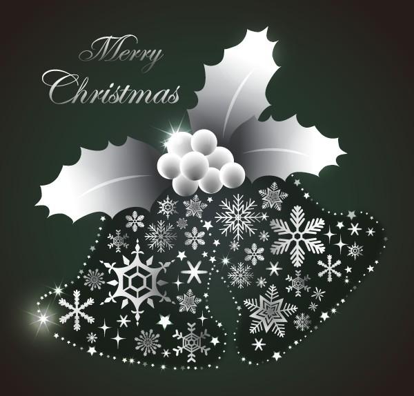 Creative Silver Christmas Bells Vector