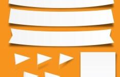 Blank Paper Strips Vector