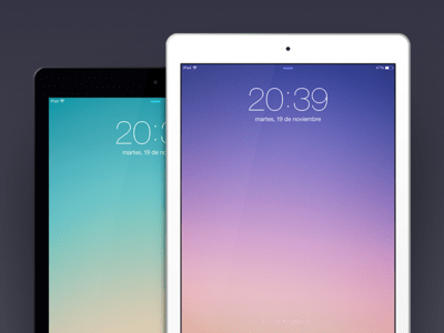 Simple iPad Air Templates (Black and White) PSD