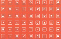 Clean Squared Web Icon Set PSD