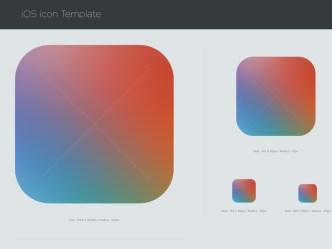 iOS 7 Icon PSD Template