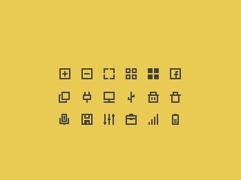 18 Minimal Outline Icons PSD