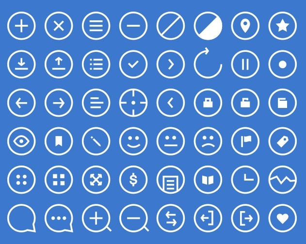 48 Rounded Outline Icons PSD