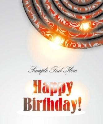 Happy Birthday Card Background Vector