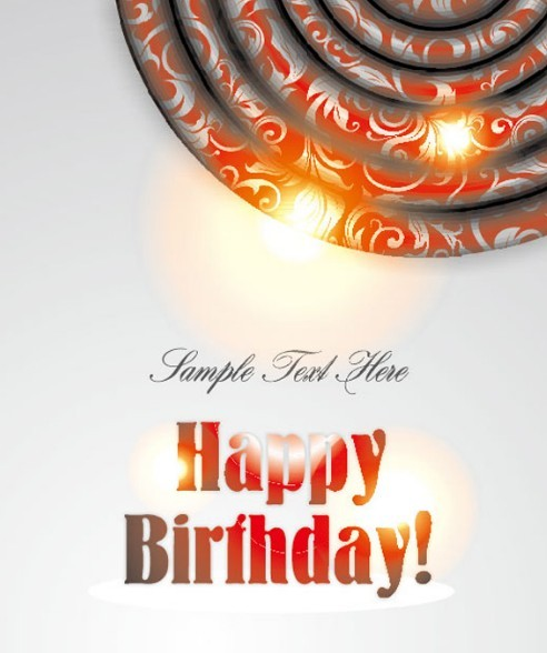 Happy Birthday Card Background Vector