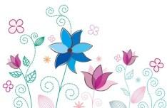 Fresh Clean Line Art Floral Design Vector 02