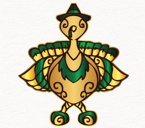 Turkey Illustration Vector For Thanksgiving and Christmas