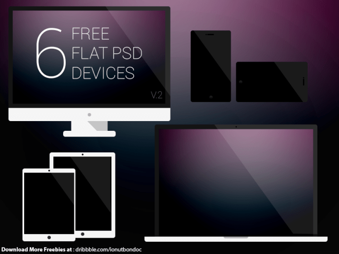 6 Dark Flat Devices PSD