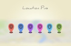 6 Colored Position Pins PSD