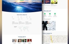 Aqual E-commerce Website Template PSD