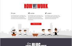 Altair Responsive Blog Website Template PSD