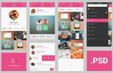 Dribbble Style APP UI Elements PSD
