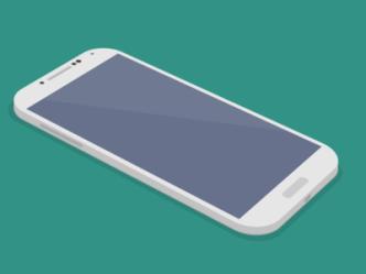 Flat Galaxy S4 3D Mockup PSD