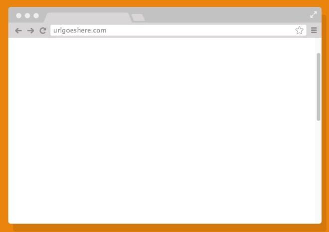 Chrome Browser Mockup PSD