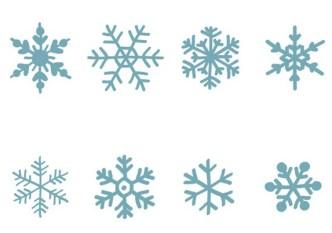 Set Of Hand Drawn Snowflakes Vector