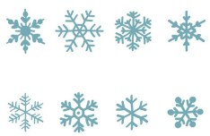 Set Of Hand Drawn Snowflakes Vector