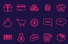 21 E-commerce Icons PSD