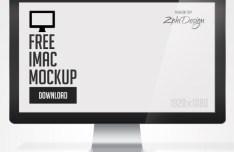 Apple iMac Mockup PSD