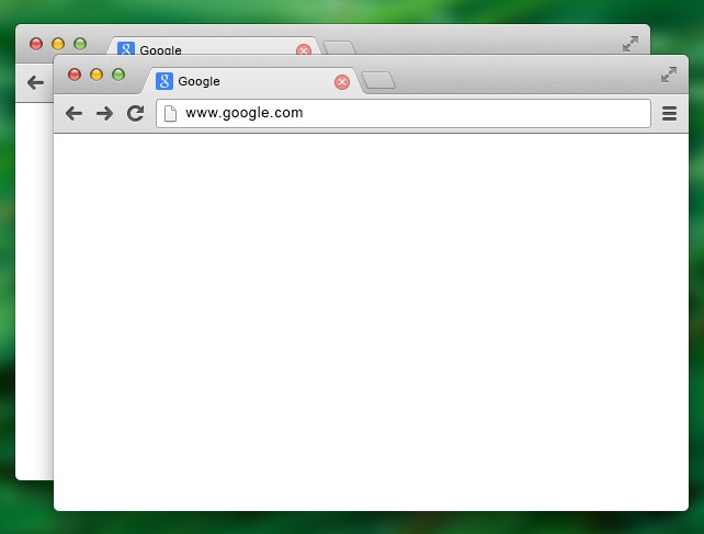 Google Chrome For Mac OS Mockup PSD