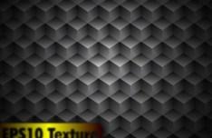 3D Dark Cubes Background Vector
