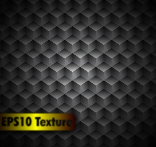 3D Dark Cubes Background Vector