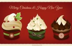 Christmas Cupcakes PSD